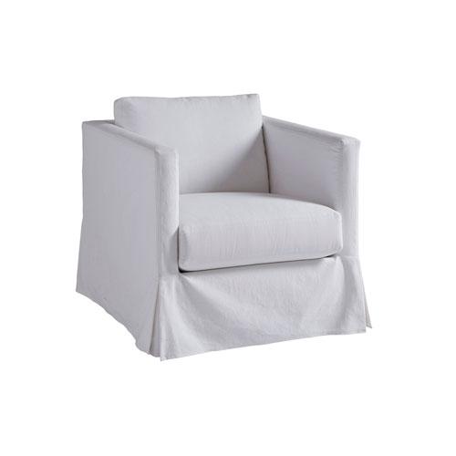 Upholstery White Marina Slipcover Chair