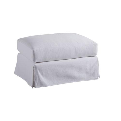 Upholstery White Marina Slipcover Ottoman