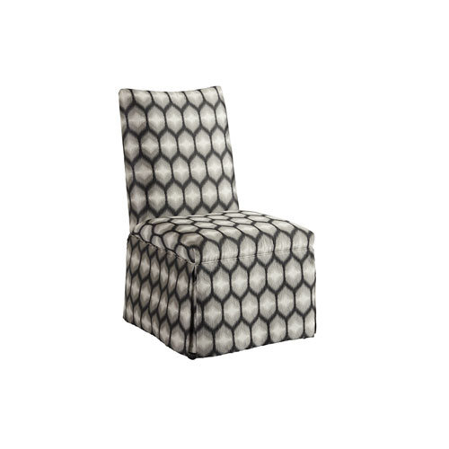 Upholstery Black and Beige Mackenzie Dining Side Chair