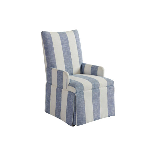 Upholstery Blue and White Mackenzie Dining Arm Chair