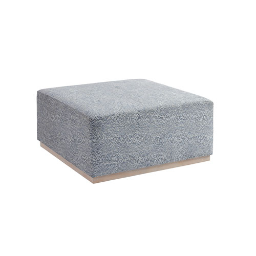 Upholstery Blue Clayton Cocktail Ottoman