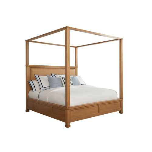 Newport Brown Shorecliff King Canopy Bed