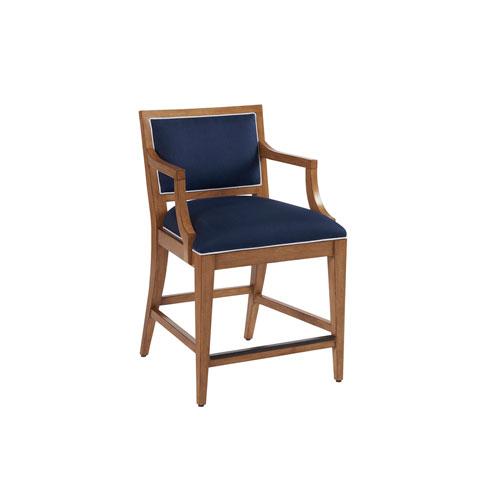Newport Dark Blue Eastbluff Upholstered Counter Stool