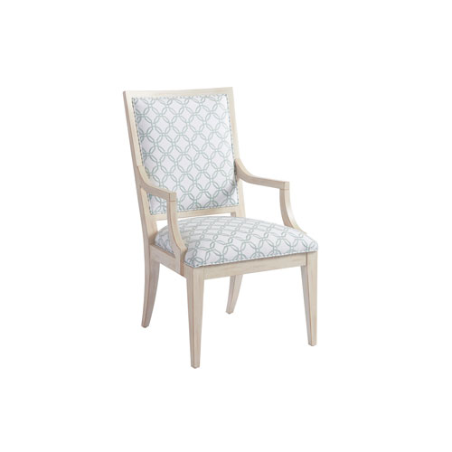 Newport Green and White Eastbluff Upholstered Arm Chair