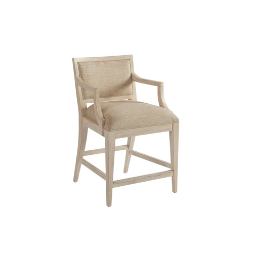 Newport Beige and White Eastbluff Upholstered Counter Stool