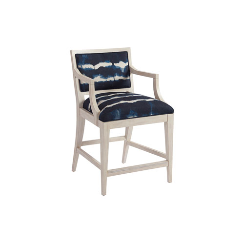 Newport Blue Eastbluff Upholstered Counter Stool