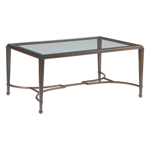 Metal Designs Antique Copper Sangiovese Small Rectangular Cocktail Table