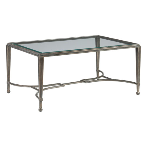 Metal Designs St. Laurent Sangiovese Small Rectangular Cocktail Table
