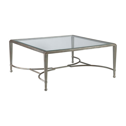 Metal Designs Argento Sangiovese Square Cocktail Table