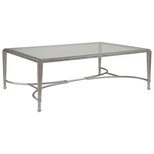 Metal Designs Argento Sangiovese Large Rectangular Cocktail Table