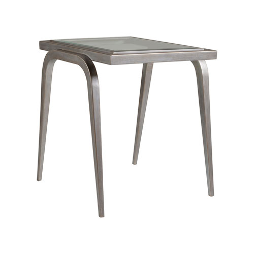 Metal Designs Argento Mitchum Rectangular End Table