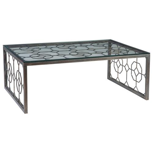 Metal Designs St. Laurent Honeycomb Rectangular Cocktail Table