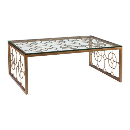 Metal Designs Renaissance Honeycomb Rectangular Cocktail Table