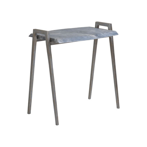 Signature Designs Gray and Iron Leo Small Nest Table