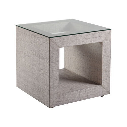 Signature Designs Light Gray Precept Square End Table