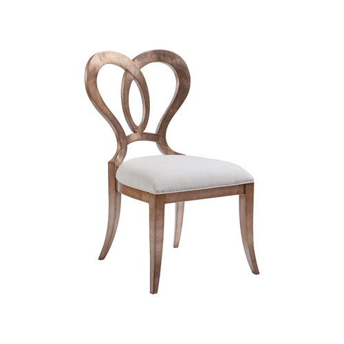Signature Designs Silver Leaf and White Melody Side Chair