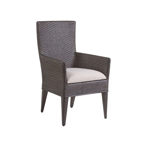 Signature Designs Mahogany and White Cadence Arm Chair