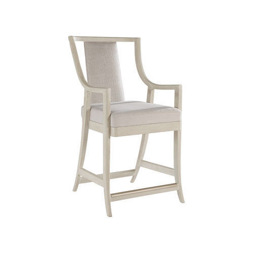Cohesion Program Bianco Mistral Woven Counter Stool