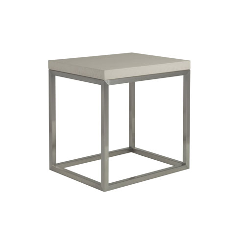 Signature Designs Brushed Gray Arturo Square End Table