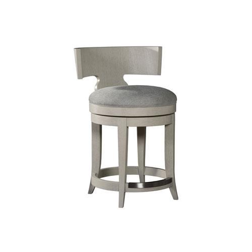 Signature Designs Light Gray Fuente Swivel Counter Stool