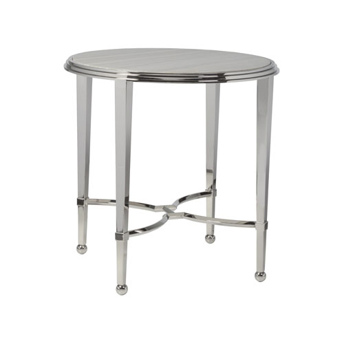 Signature Designs Stainless Steel Sangiovese Round End Table