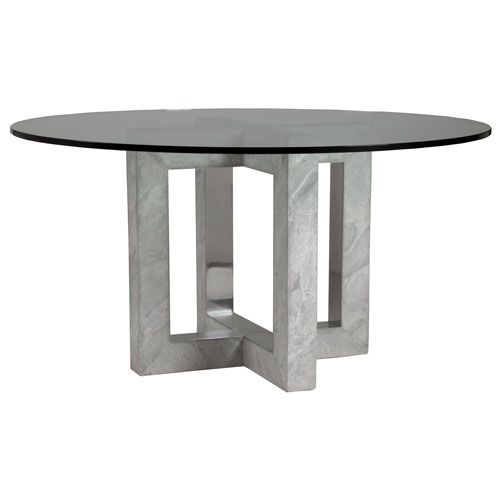 Signature Designs Gray Heller Round Dining Table