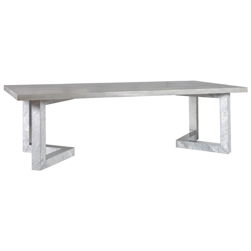 Signature Designs Gray Heller Rectangular Dining Table