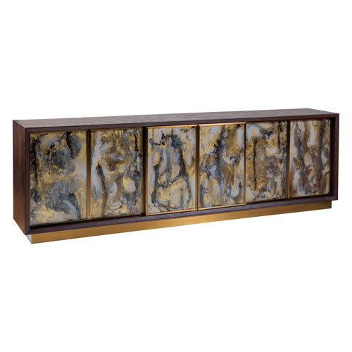 Signature Designs Dark Oak Verbatim Long Media Console
