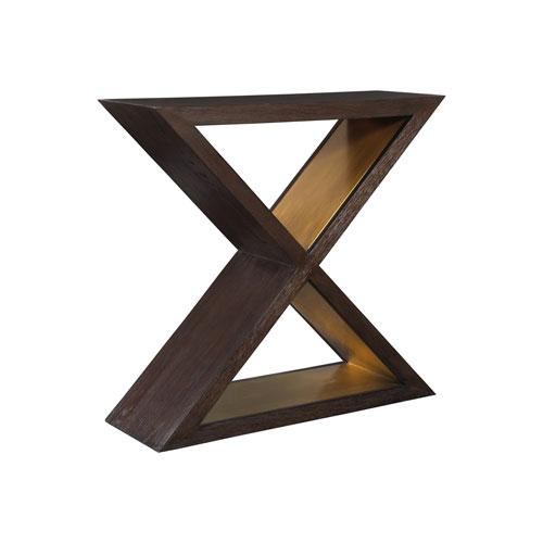 Signature Designs Dark Oak Verbatim X Console Table