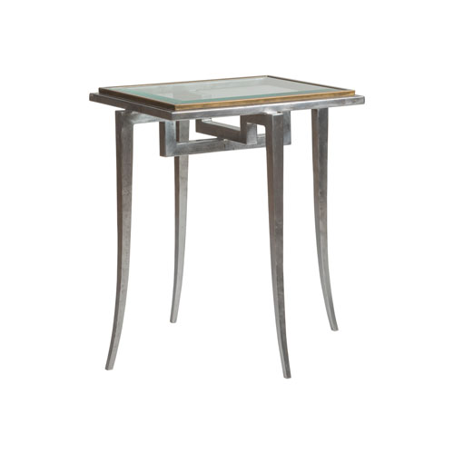 Signature Designs Antique Silver and Bronze Huxley Rectangle Spot Table