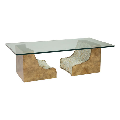 Signature Designs Bronze and Clear Apricity Rectangular Cocktail Table