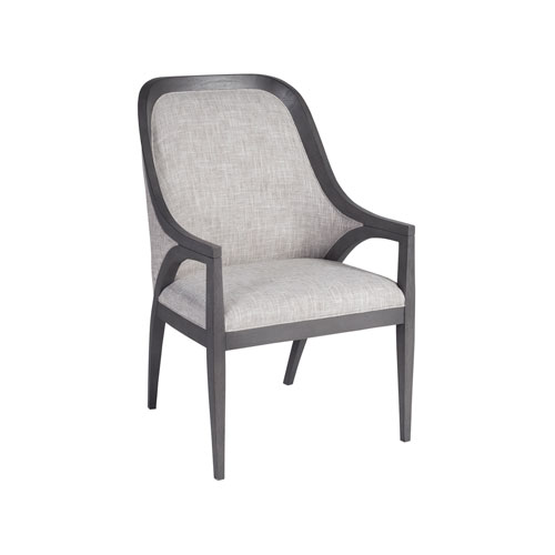 Signature Designs Gray Appellation Dining Arm Chair with Shaped Back