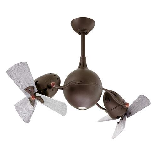 Acqua Textured Bronze LED Rotational Ceiling Fan