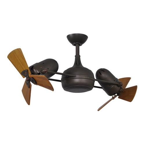 Dagny Matte Black LED Rotational Ceiling Fan