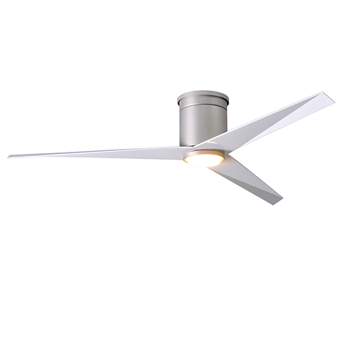Matthews Fan Eliza Hlk Brushed Nickel 56 Inch Led Ceiling With Gloss White Blades
