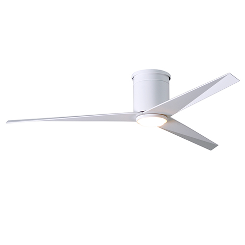 Eliza-HLK Gloss White 56-Inch LED Ceiling Fan with Gloss White Blades