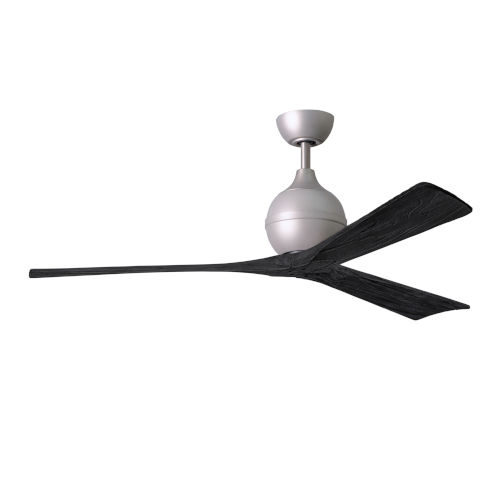 Irene-3 Brushed Nickel and Matte Black 60-Inch Outdoor Ceiling Fan