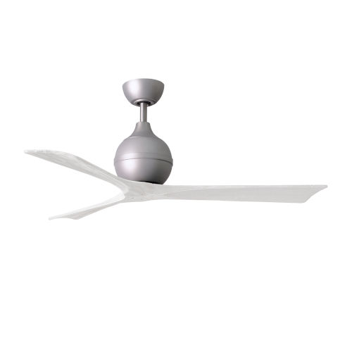 Irene-3 Brushed Nickel and Matte White 52-Inch Outdoor Ceiling Fan