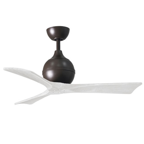 Irene-3 Textured Bronze and Matte White 42-Inch Outdoor Ceiling Fan