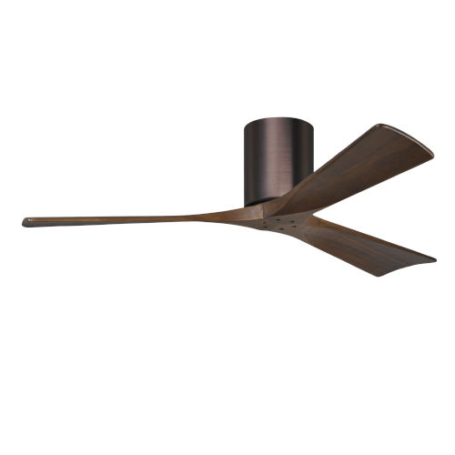 Irene-3H Brushed Bronze and Walnut 52-Inch Outdoor Ceiling Fan
