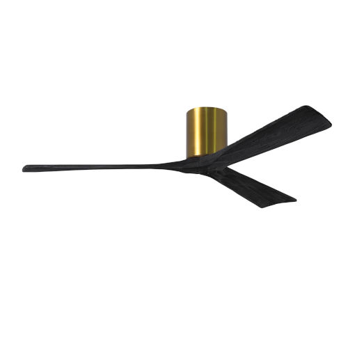 Irene-3H Brushed Brass and Matte Black 60-Inch Outdoor Ceiling Fan