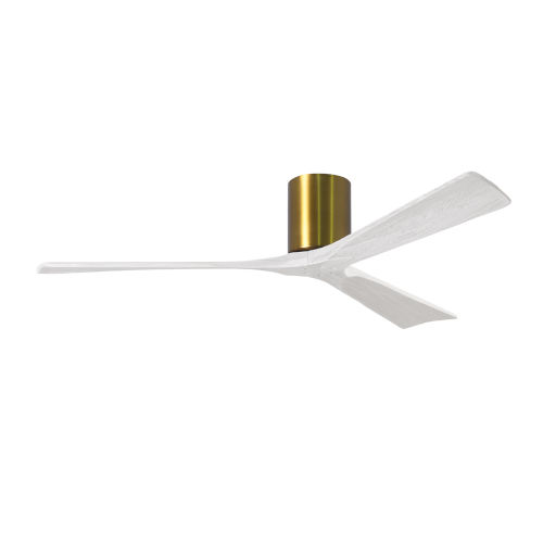 Irene-3H Brushed Brass and Matte White 60-Inch Outdoor Ceiling Fan