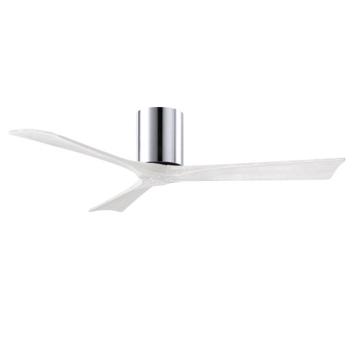 Irene-3H Polished Chrome and Matte White 52-Inch Outdoor Ceiling Fan
