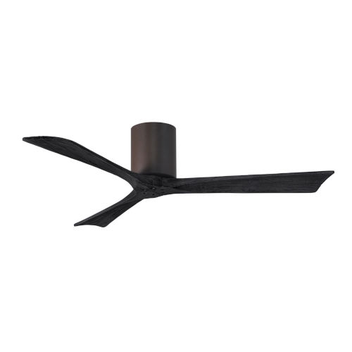 Irene-3H Textured Bronze and Matte Black 52-Inch Outdoor Ceiling Fan