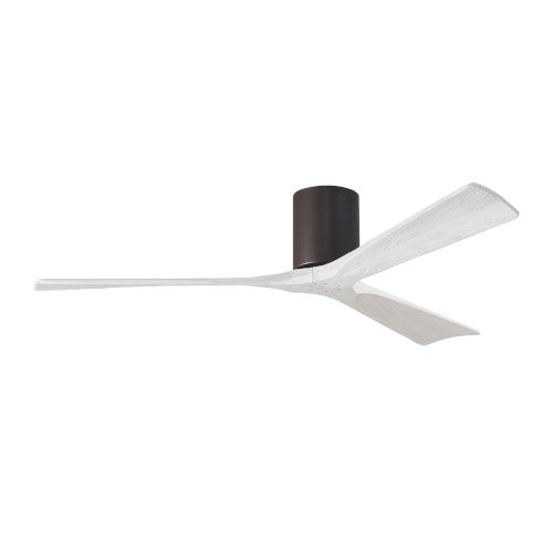 Irene-3H Textured Bronze and Matte White 60-Inch Outdoor Ceiling Fan