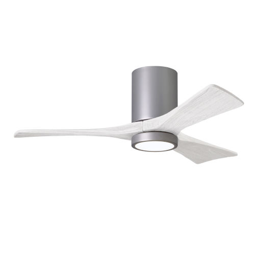 Irene-3HLK Brushed Nickel and Matte White 42-Inch Ceiling Fan with LED Light Kit