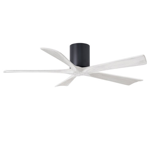 Irene-5H Matte Black and Matte White 52-Inch Outdoor Ceiling Fan