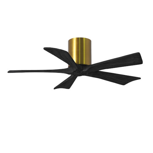 Irene-5H Brushed Brass and Matte Black 42-Inch Outdoor Ceiling Fan