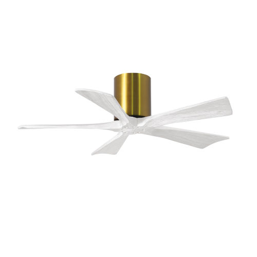 Irene-5H Brushed Brass and Matte White 42-Inch Outdoor Ceiling Fan