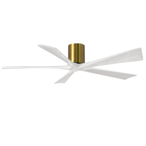 Irene-5H Brushed Brass and Matte White 60-Inch Outdoor Ceiling Fan